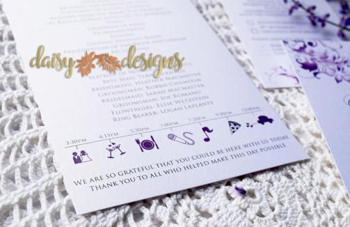 Lilac Blossoms program close-up