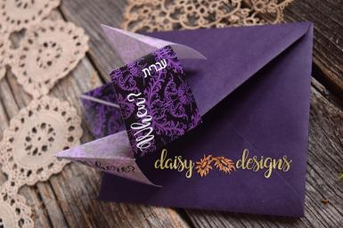 Damask fortune teller invite open