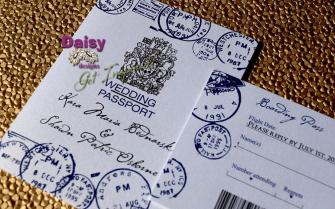 Passport invite and rsvp