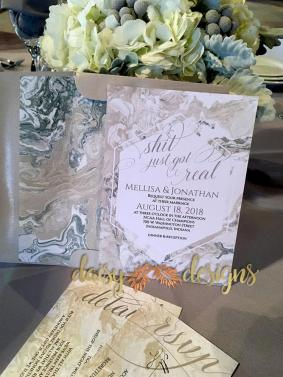 Sand Marble invite and rsvp