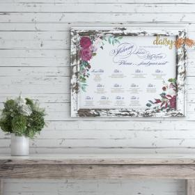 Floral Romance Seating Chart