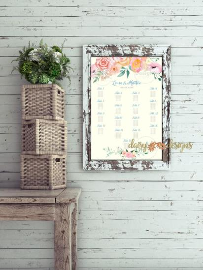 Peach Blush Seating Chart