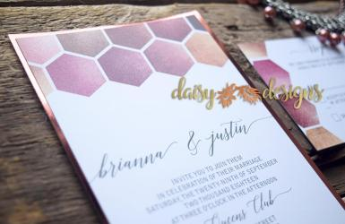 Rose Gold Honeycomb on mirror paper