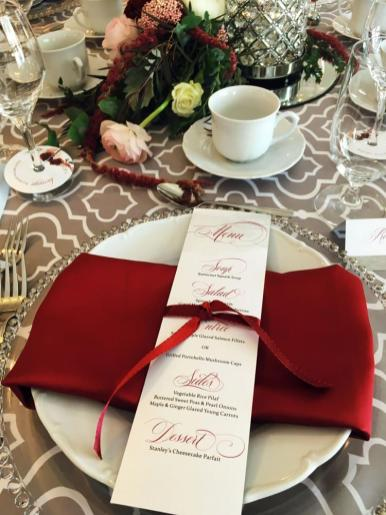 Scarlet and Silver table set