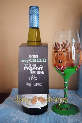 My Child wine bottle tag