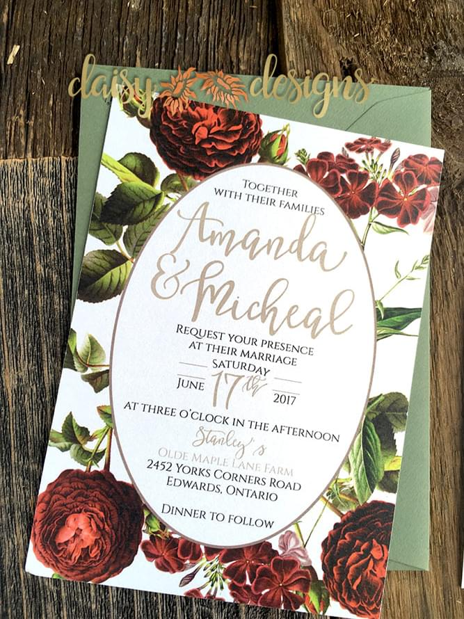 English Garden Avocado invite