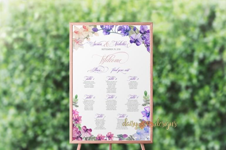 Orchids seating chart