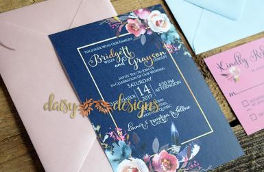 Pretty in Pink invite with pink envelope