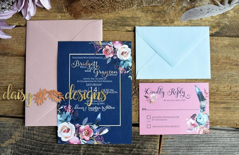 Pretty in Pink suite with coloured envelopes