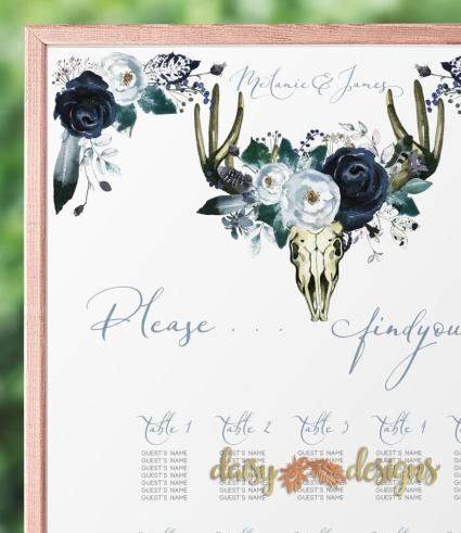 Midnight Peonies Seating Chart Details