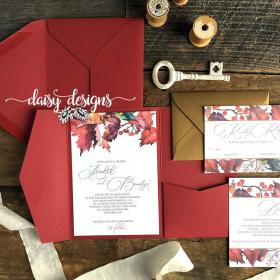 Watercolour Autumn Leaves - full invite suite