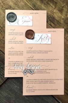 Grey Feather personal menus