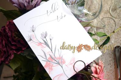 Grey Feather table number