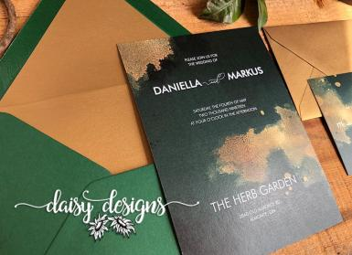 Emerald and Gold Dust invite suite