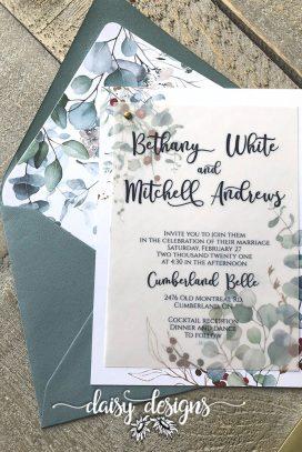 Cumberland Belle invite on velum