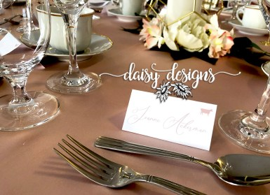 Blush and Gold Modern Paint - place card