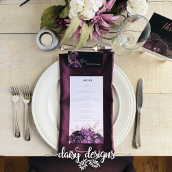 Moody Mauve Rose menu