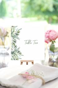 Italian Garden table number