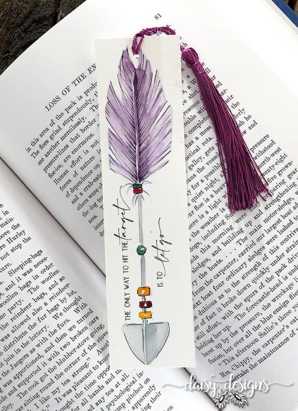 Let Go Bookmark - Purple