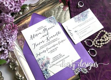 Spring Lilacs invite and rsvp