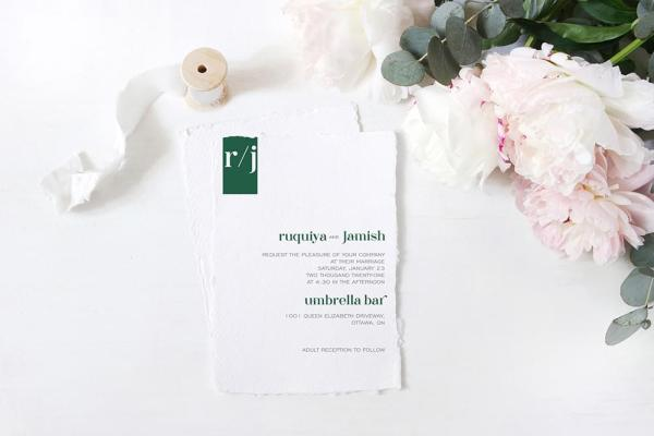 DIY Printable - Modern 1 - invite with torn edges