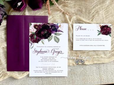Sangria wedding invite suite