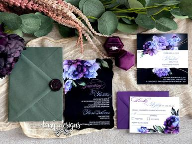 Victorian Eminence invite suite with envelope options