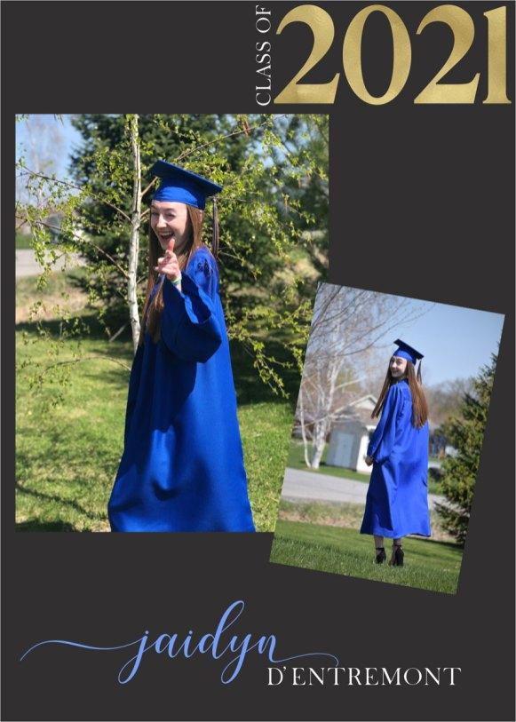 grad announcement card multi photo