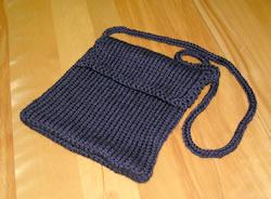 black purse pre-felting