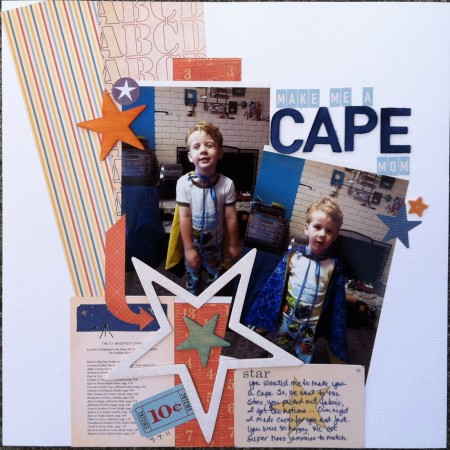Scrapbook LO: make me a CAPE Mom