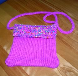 pink purse pre-felting