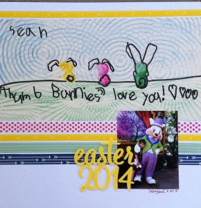 Scrapbook LO: Thumb Bunnies Love You
