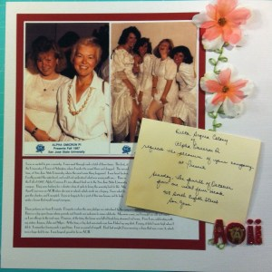 Scrapbook LO of me and my sorority sisters