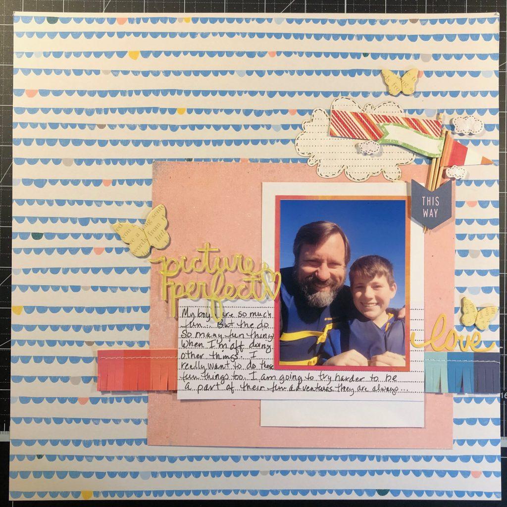 scrapbook layout of John and Sean