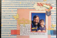 scrapbook layout of John and Sean