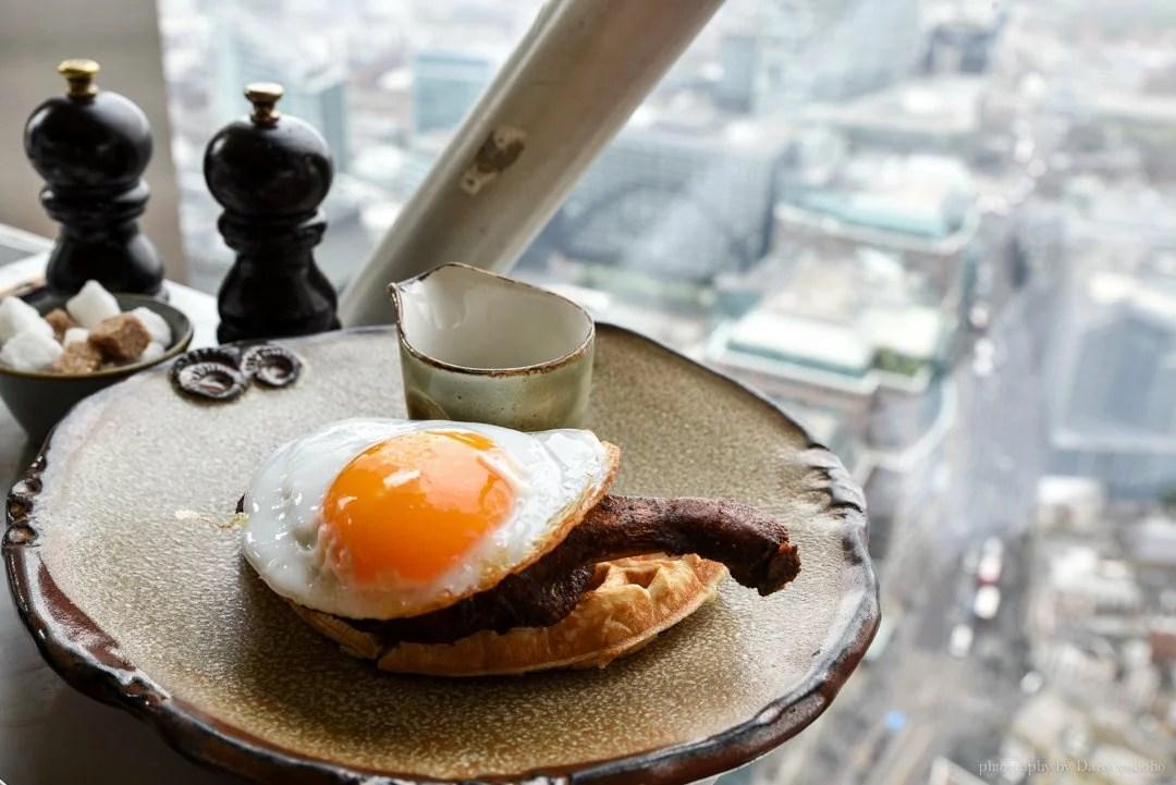 倫敦美食, 倫敦自助旅行, 鴨肉鬆餅, 倫敦觀景台, 倫敦自由行, 英國自由行, 英國美食, Duck&waffle