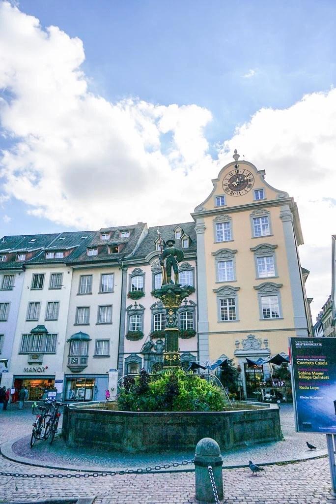 Schaffhausen, 瑞士城市, 瑞士景點, 莎夫豪森, 圓形廣場, 瑞士小鎮, 瑞士自助, 瑞士火車, 瑞士自駕