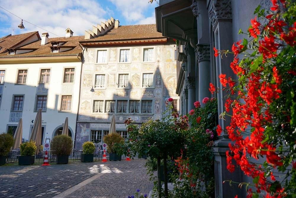 瑞士景點, 蘇黎世近郊, 瑞士自駕, 瑞士自助旅行, 瑞士自由行, 施泰因, 瑞士小鎮, 萊茵河上的寶石, Stein am rhein