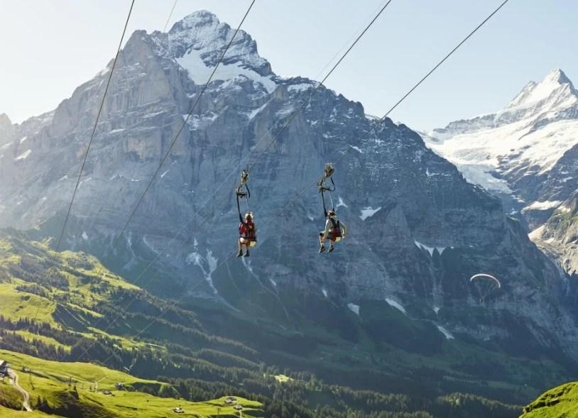 first flyer, First, 菲斯特, 少女峰區, 瑞士纜車, 卡丁車, 高空飛索, 滑板自行車, Grindelwald, 格林德瓦, 瑞士自助