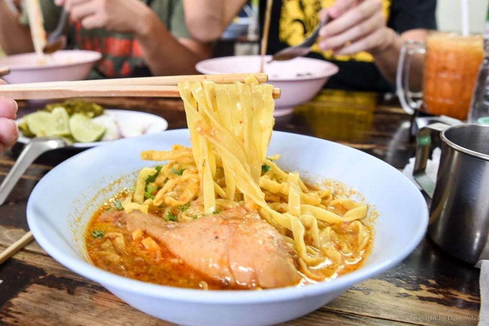 清邁小吃, 咖哩雞肉麵, 清邁美食, 清邁自由行, 清邁自助, curry-noodle