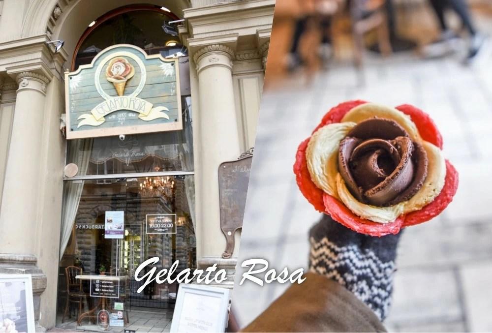 Gelarto Rosa, 花瓣冰淇淋, 布達佩斯美食, 歐洲冰淇淋, 布達佩斯甜點, 布達佩斯自由行