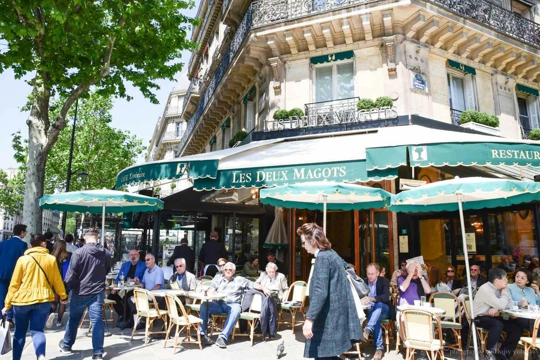 Les Deux Magots, 雙叟咖啡, 左岸咖啡館, 巴黎左岸咖啡, 巴黎咖啡, 塞納河畔
