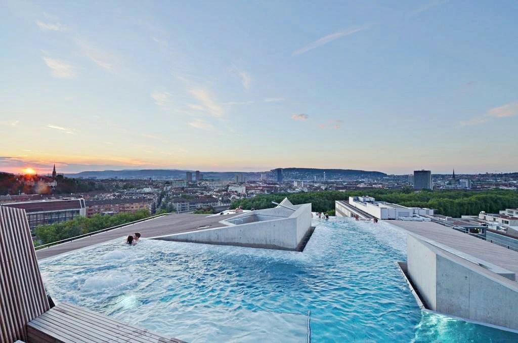 B2 boutique hotel spa, 蘇黎世住宿, 邊際游泳池, 蘇黎世飯店, 五星級飯店, 蘇黎世湖景飯店