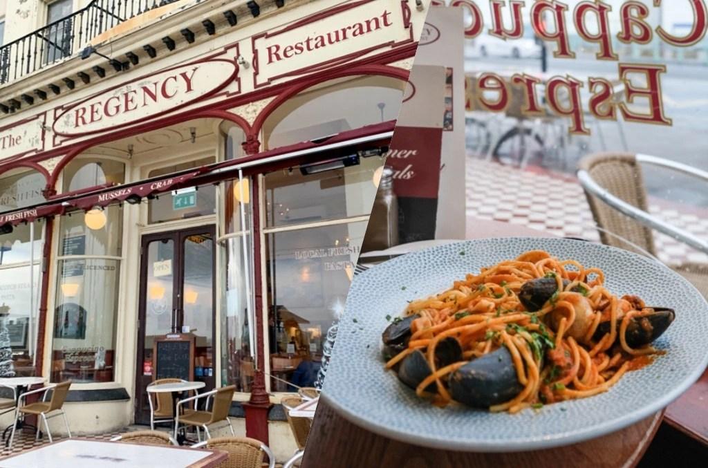 Regency Restaurant, 布萊頓美食, 攝政餐廳, 布萊頓海鮮, 英國布萊頓, 布萊頓海鮮義大利麵, 布萊頓海景餐廳