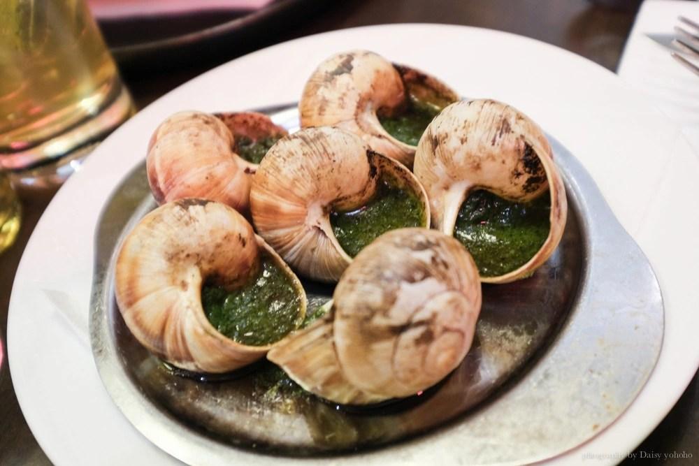 Le comptoir, 巴黎美食, 法式蝸牛料理, 巴黎蝸牛餐點, 法式料理, 羊膝, 紅酒燉牛肉, 法式鮪魚排