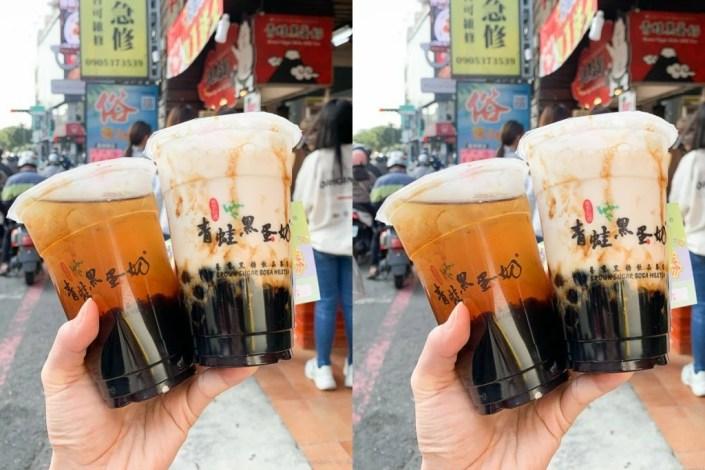 青蛙黑蛋奶, 台南黑蛋奶, 台南青蛙撞奶, 台南飲料, 黑糖珍珠, 東寧路美食
