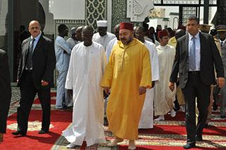 Mohammed VI à la Grande Mosquée de Dakar