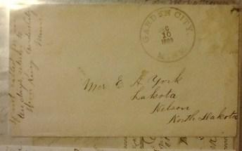 1889, Garden City Minn, Dec 10, letter, Mrs E A York