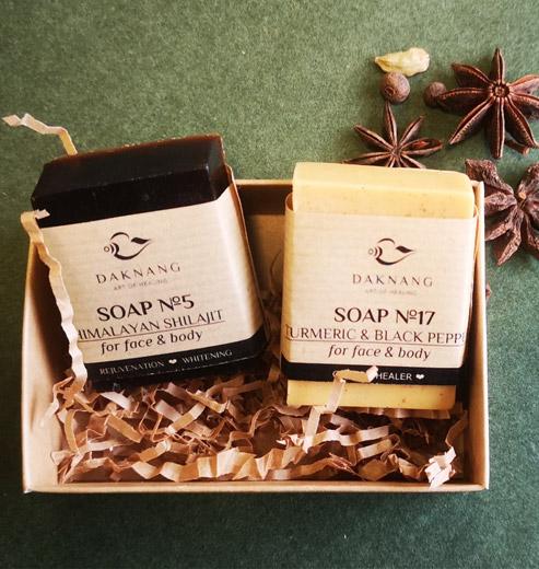 turmeric soap and shilajit soap