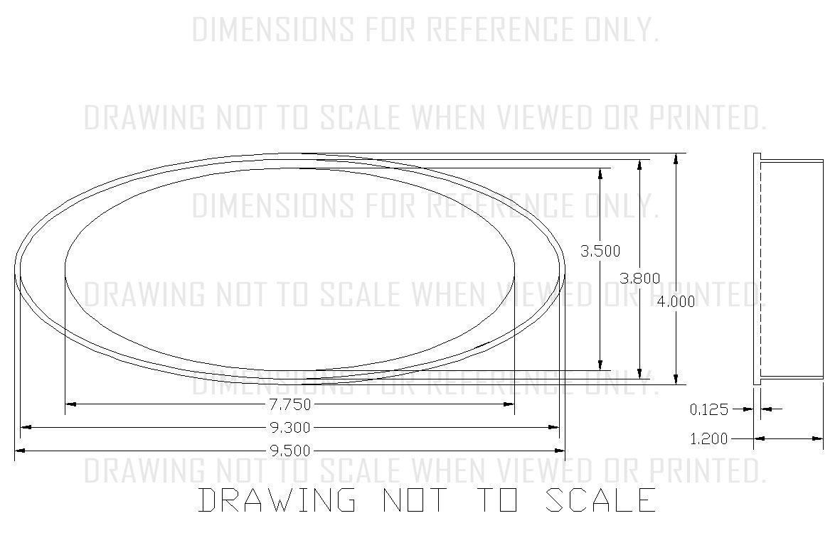 Vfd3 Universal 4 X 9 5 Elliptical Digital Instrument